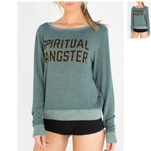 Spiritual Gangster Savasana Pullover Sweater Green